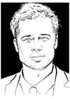 Malvorlage  Brad Pitt