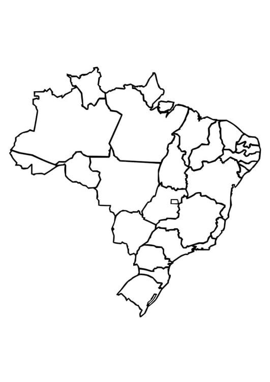 Malvorlage Brasilien Ausmalbild 26373