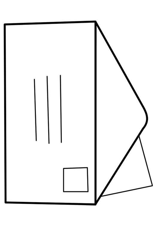 Malvorlage Brief | Ausmalbild 22465.