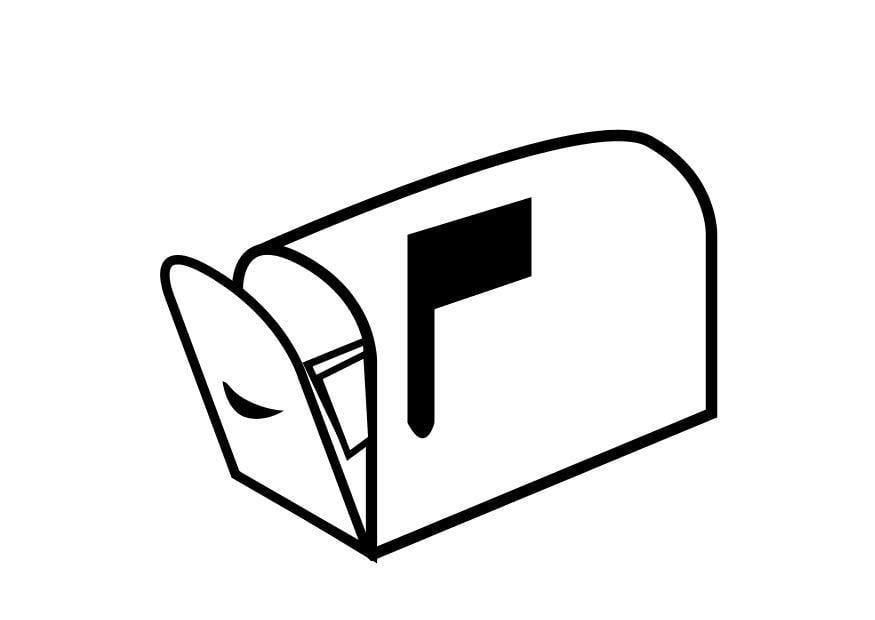 Malvorlage Briefkasten | Ausmalbild 18682.