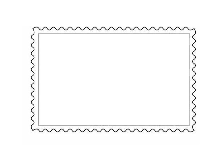malvorlage briefmarke 1 ausmalbild 9888 images. Black Bedroom Furniture Sets. Home Design Ideas