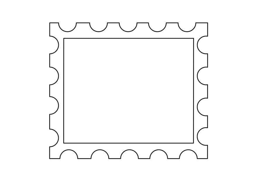 Malvorlage briefmarke 2 ausmalbild 9889 for Post office design your own stamps