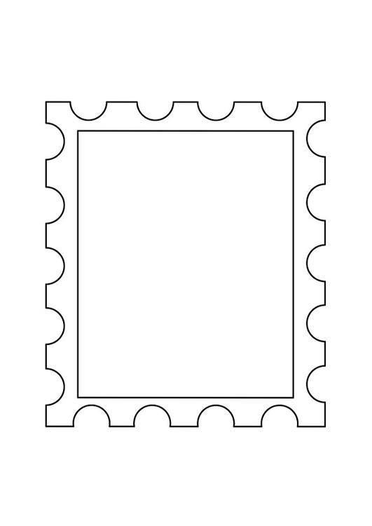 malvorlage briefmarke 2 ausmalbild 9889. Black Bedroom Furniture Sets. Home Design Ideas
