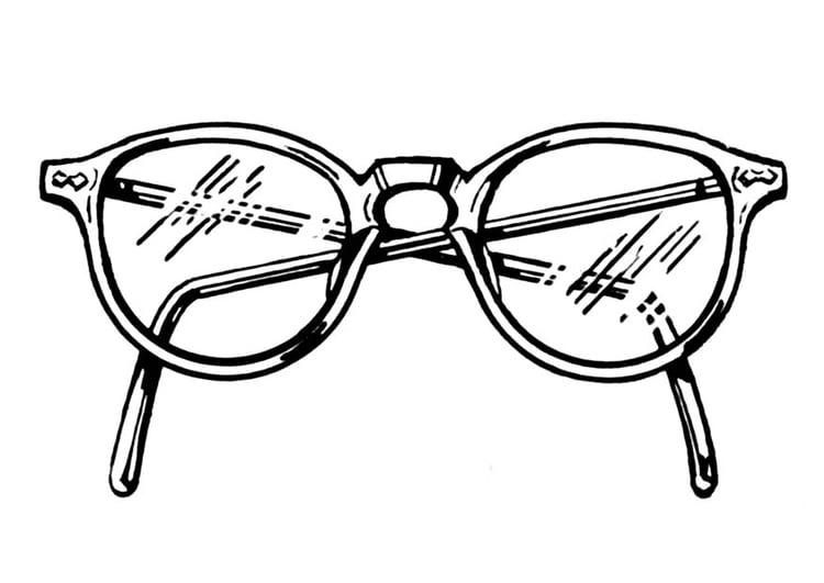 Malvorlage Brille Ausmalbild 18745