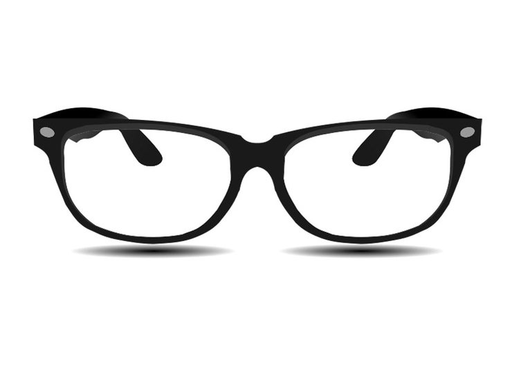 Black And White Nerd Glasses