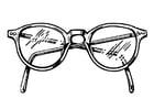 Malvorlage  Brille