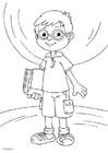Malvorlage  Brille tragen