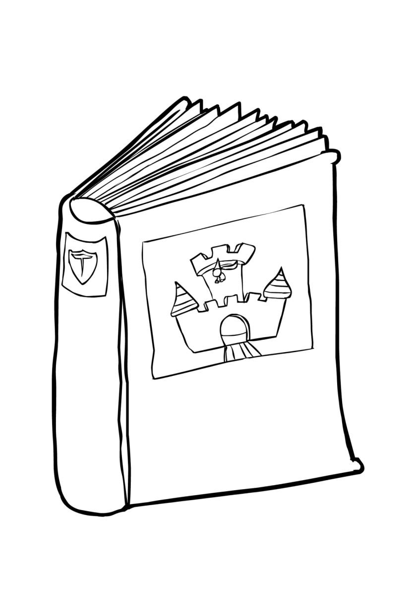 Malvorlage Buch 2 (2) | Ausmalbild 14987.