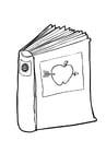 Malvorlage  Buch (2)