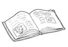 Malvorlage  Buch - lesen (2)