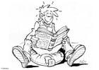 Malvorlage  Buch lesen