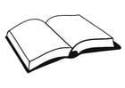 Malvorlage  Buch