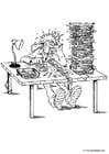 Malvorlage  Buchhalter