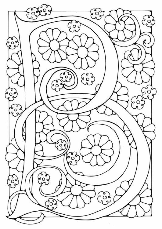 Malvorlage Buchstabe - B | Ausmalbild 21887.
