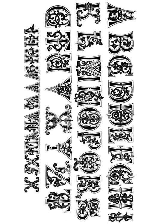 Malvorlagen Mittelalter Buchstaben | My blog