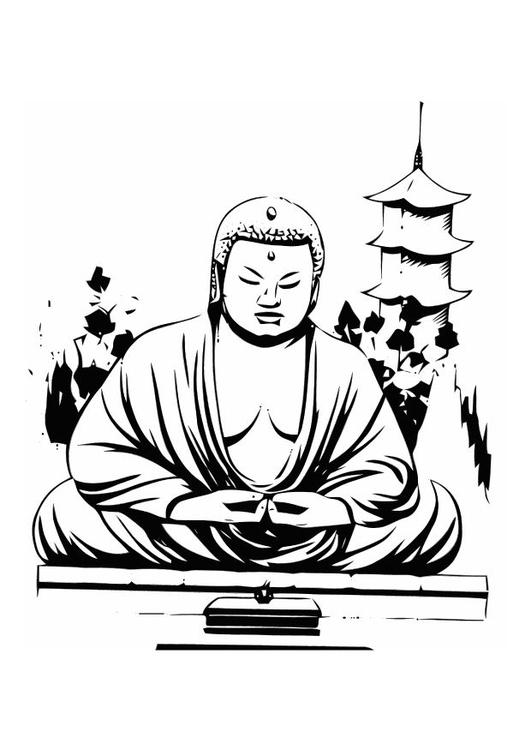 malvorlage buddha ausmalbild 11014. Black Bedroom Furniture Sets. Home Design Ideas