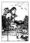 Malvorlage  Buddha Statue