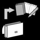 Malvorlage  Büchertasche ausleeren