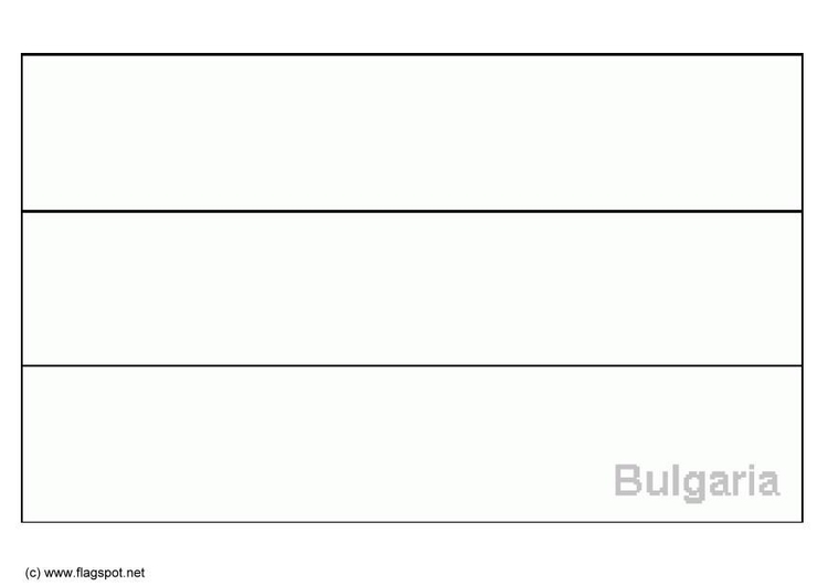 Bulgaria Flag Coloring Page