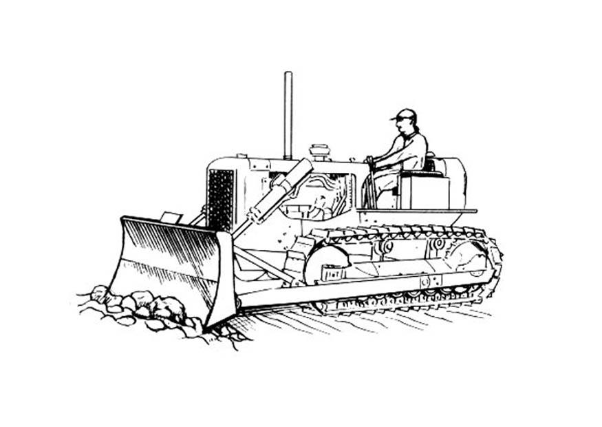 Malvorlage Bulldozer Ausmalbild 18822
