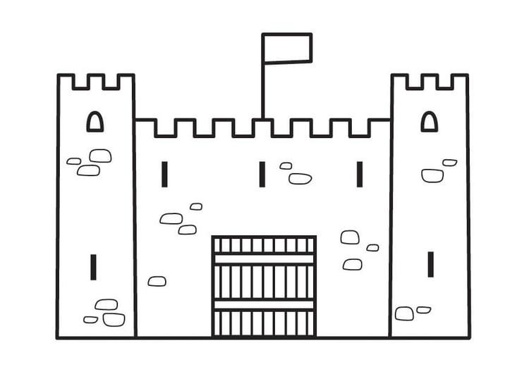 Malvorlage Burg Ausmalbild 23132