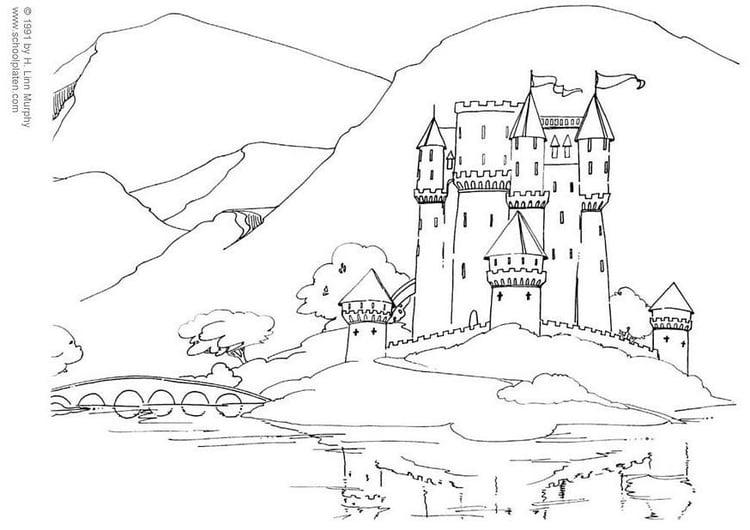 Malvorlage Burg Ausmalbild 3831
