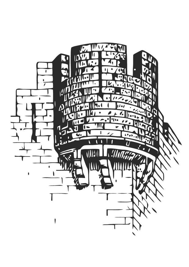 malvorlage burgturm  ausmalbild 13283