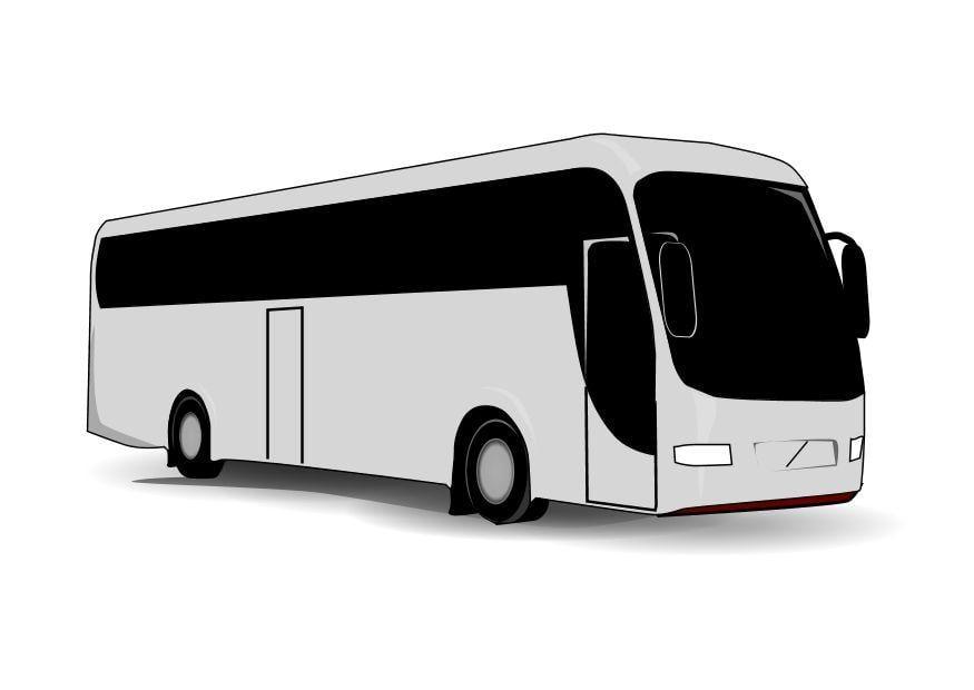 Malvorlage Bus | Ausmalbild 10098.