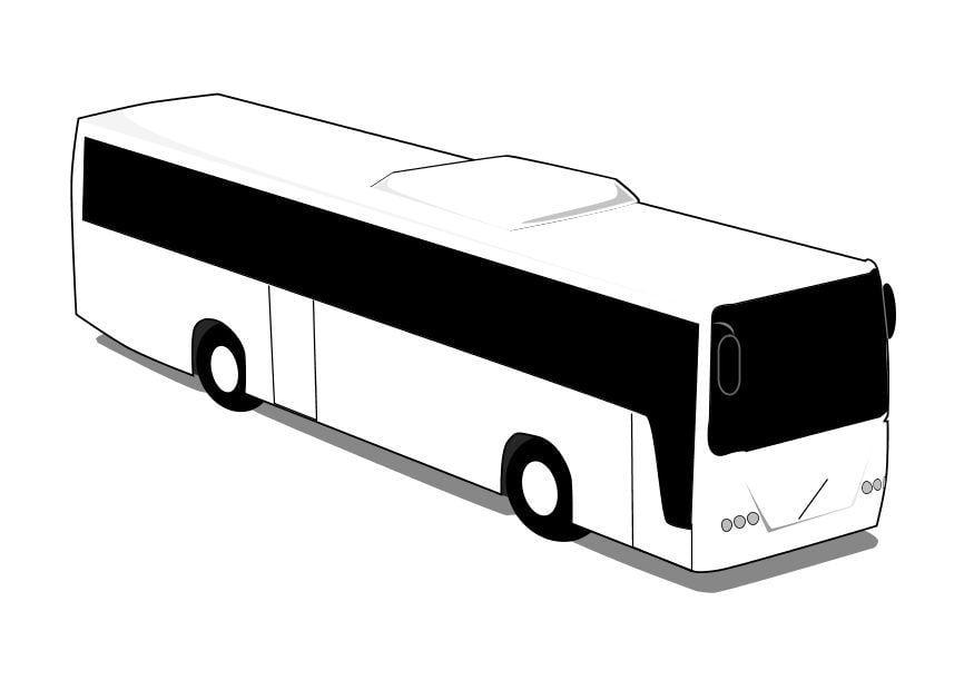 Malvorlage Bus | Ausmalbild 10106.