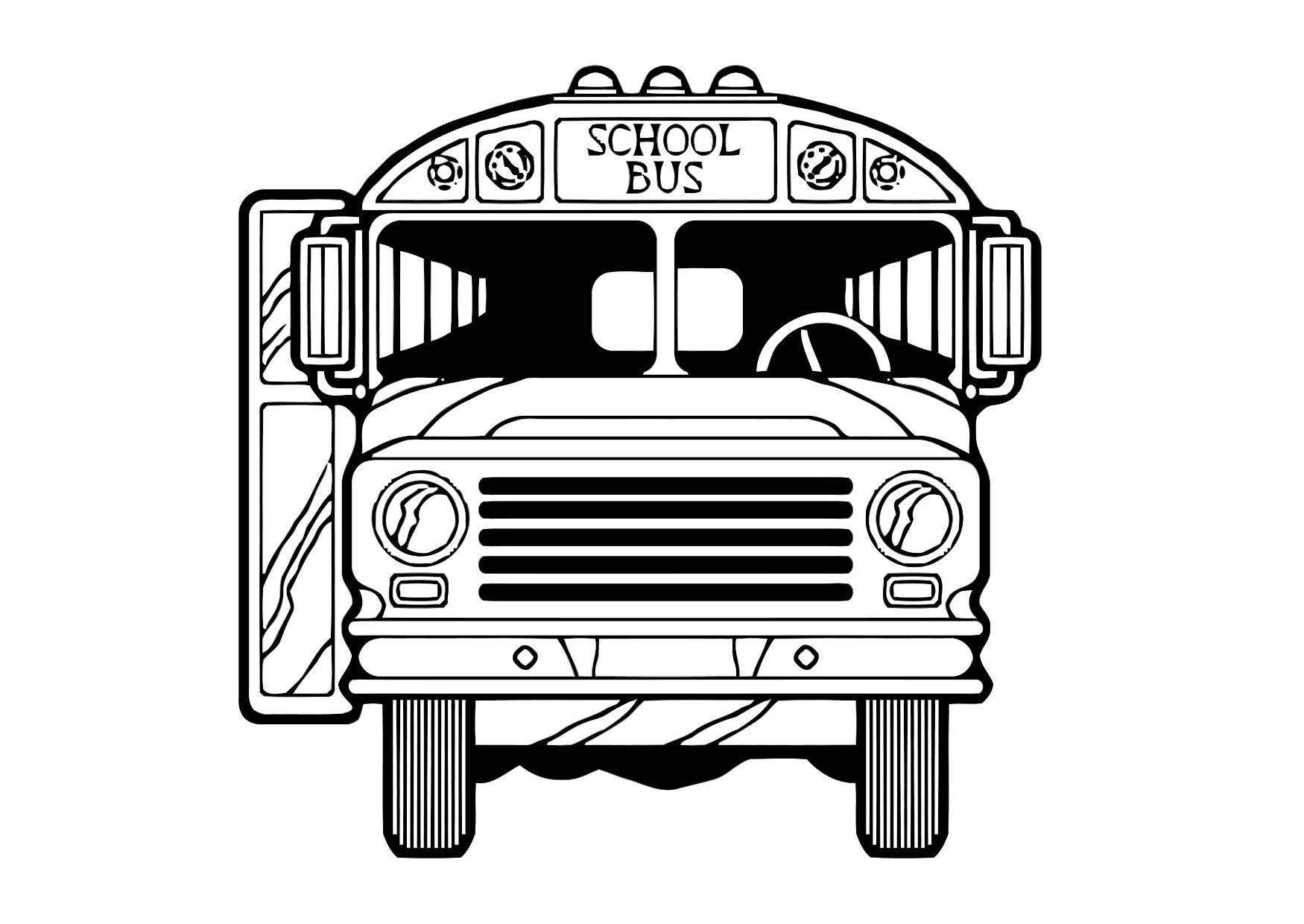 Malvorlage Bus - Kostenlose Ausmalbilder Zum Ausdrucken - Bild 19.