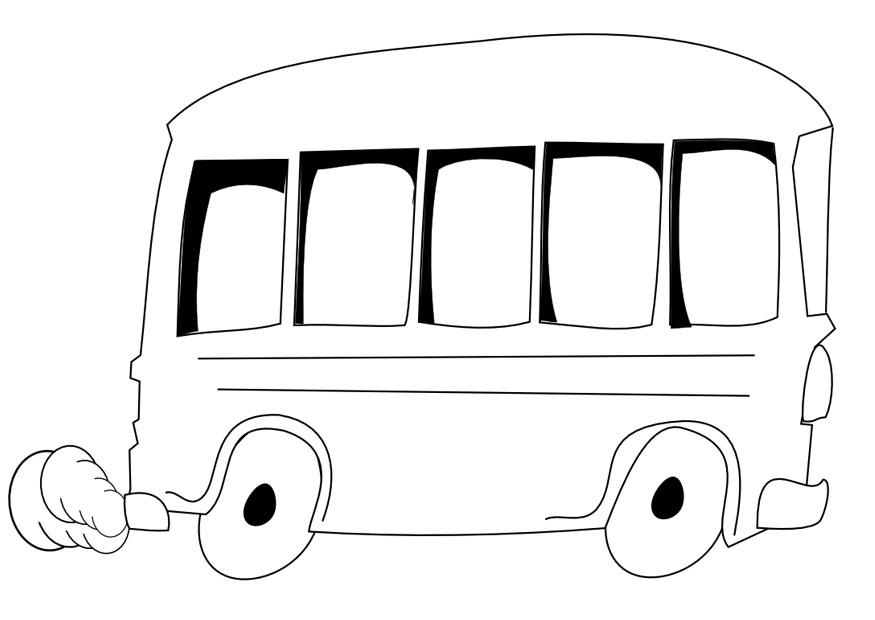 Malvorlage Bus | Ausmalbild 9966.