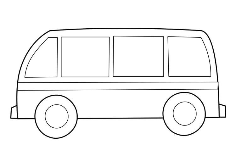 Malvorlage Bus Ausmalbild 22855