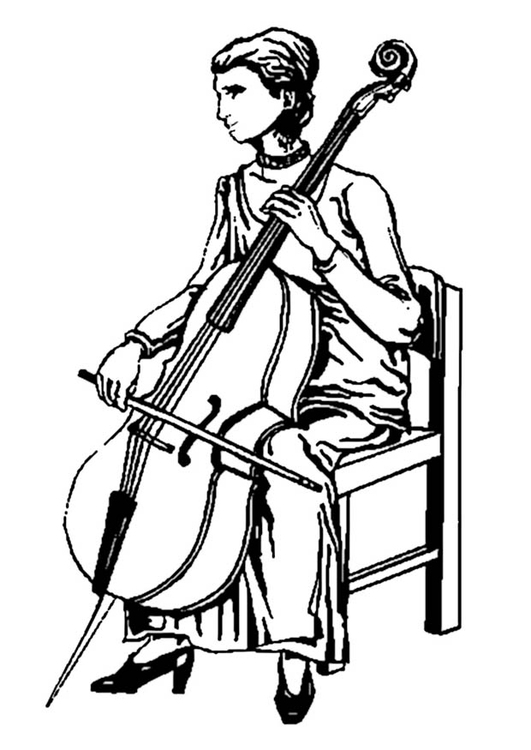 Malvorlage  Cello