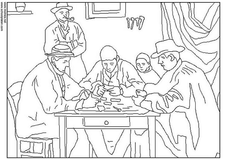malvorlage cézanne  kostenlose ausmalbilder zum ausdrucken