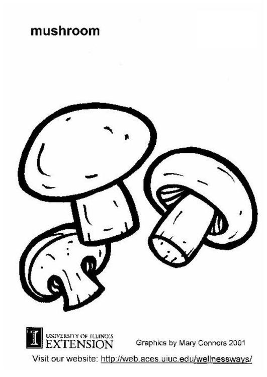 malvorlage champignon  kostenlose ausmalbilder zum