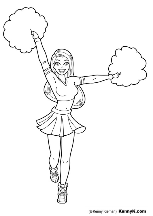 Malvorlage Cheerleader | Ausmalbild 20044.