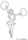 Malvorlage  Cheerleader