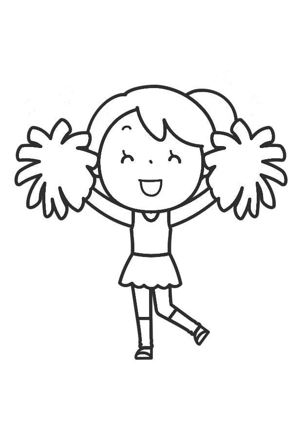 malvorlage cheerleading  kostenlose ausmalbilder zum