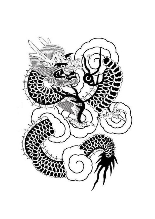 Malvorlage Chinesischer Drache Ausmalbild 9368