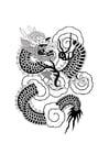 Malvorlage  Chinesischer Drache