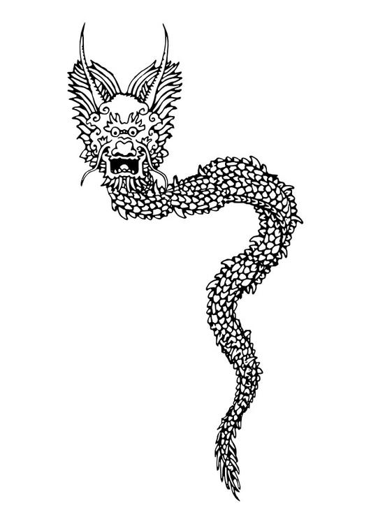 Malvorlage Chinesischer Drachen Ausmalbild 27272