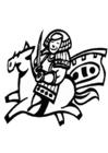 Malvorlage  chinesischer Reiter