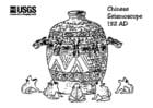 Malvorlage  Chinesischer Seismograph 132 AD