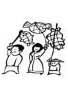 Malvorlage  chinesisches Fest