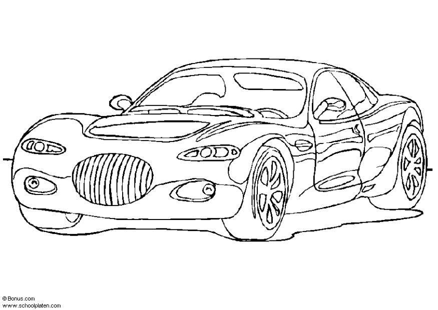 Malvorlage Chrysler 300 | Ausmalbild 5436.