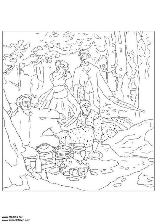 Malvorlage Claude Monet | Ausmalbild 3114.