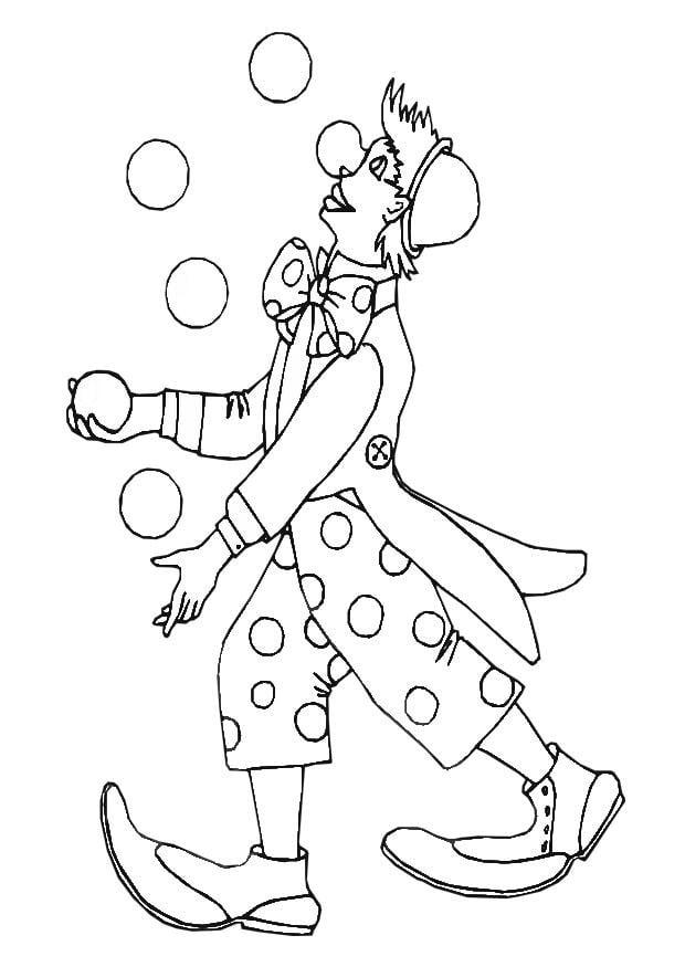 Malvorlage Clown Ausmalbild 28868