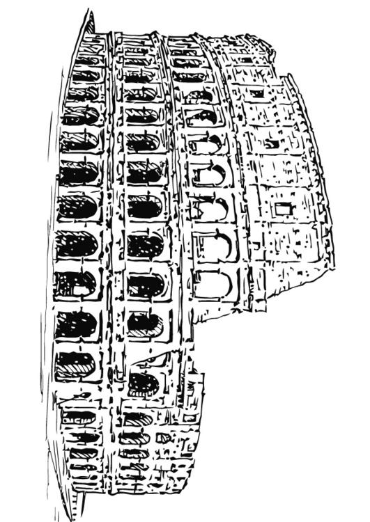 kolosseum malvorlage coloring and malvorlagan