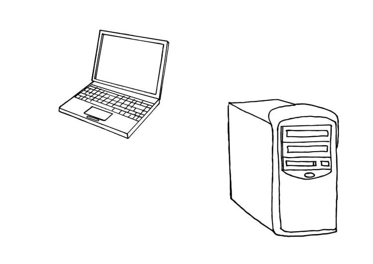 Malvorlage Computer Ausmalbild 10426