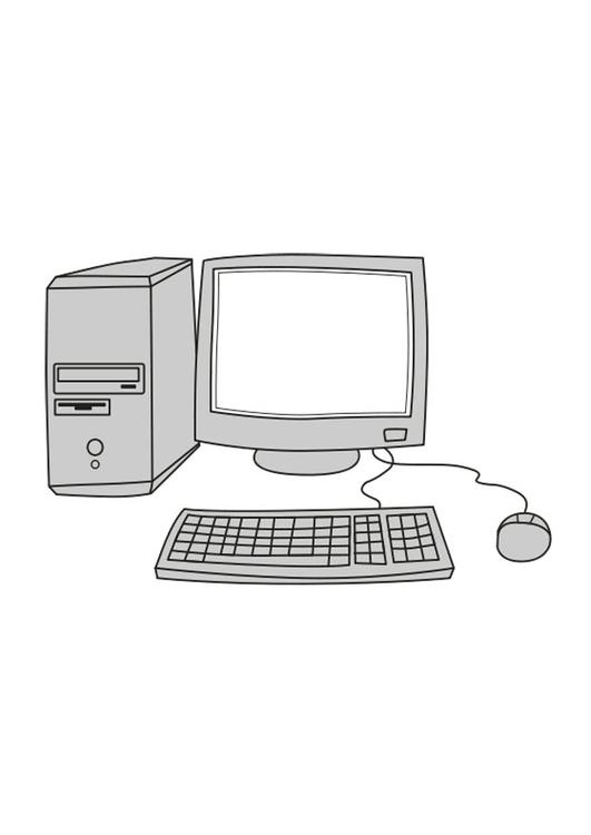 Malvorlage Computer | Ausmalbild 25546.